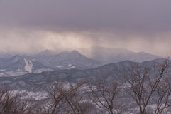 Sapporo mounter view in winter Royalty Free Stock Photos
