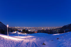 Sapporo night view Royalty Free Stock Photo