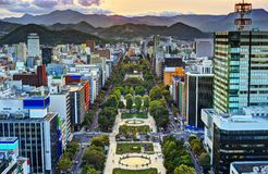 Sapporo no parque de Odori Fotos de Stock