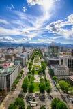 Sapporo Odori från TVtorn royaltyfri foto