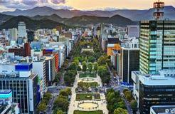 Sapporo an Odori-Park Stockfotos