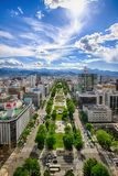 Sapporo Odori from TV Tower Royalty Free Stock Photo