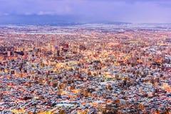 Sapporo, paysage urbain d'antenne du Japon Images libres de droits