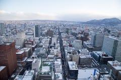 Sapporo pejzażu miejskiego miastowy krajobraz zdjęcia stock