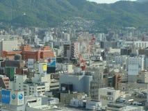Sapporo sikt från ett torn Arkivbilder