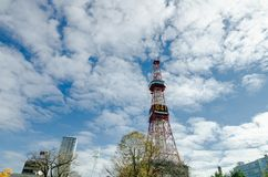 Sapporo TV Tower in autumn. Royalty Free Stock Image
