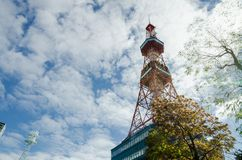 Sapporo TV Tower in autumn. Royalty Free Stock Photography