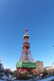 Sapporo TV Tower by fish eye lens Royalty Free Stock Photography