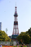 The Sapporo TV Tower. Is located at Odori Park, in Sapporo, Hokkaido, Japan Stock Photography