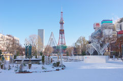 Sapporo White Illumination during the daytime Stock Images