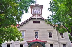 Sapporo Zegarowy wierza w hokkaidu, Japonia fotografia royalty free