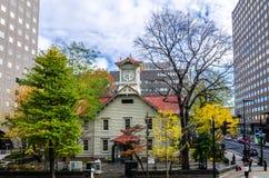 Sapporo Zegarowy wierza w jesieni Zdjęcie Stock