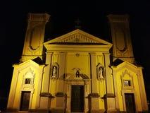 Sapri - Church of the Immaculate Conception. Sapri, Salerno, Campania, Italy - July 22, 2017: Façade of the Church of the Immaculate Conception from Piazza royalty free stock photography
