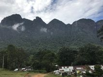 Sapthakanya山在斯里兰卡 库存照片