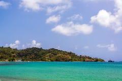 Sapzurro Seascape. Caribbean Sea view in the town of Sapzurro in Choco, Colombia Stock Image