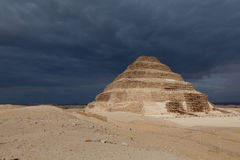 Saqarra, step pyramid of Zoser Stock Photo