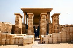 Saqqara egiptu Obrazy Stock