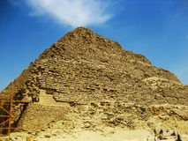 Saqqara Pyramid, Egypt. Saqqara (or Sakkara, Saqqarah; Arabic: سقارة‎) is a vast, ancient burial ground in Egypt, serving as the necropolis for the Royalty Free Stock Photo