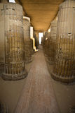 Saqqara temple columns corridor Stock Images