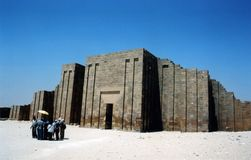 Saqqara Temple in Giza, Egypt Stock Photography