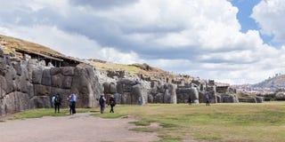 Saqsaywaman印加人站点在秘鲁 免版税库存图片