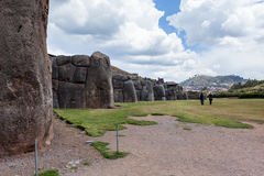 Saqsaywaman印加人站点在秘鲁 免版税图库摄影