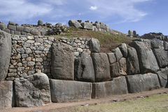 The Saqsaywaman archaeological complex, Peru Royalty Free Stock Images