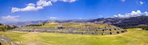 Saqsaywaman Inca Ruins no Peru fotos de stock