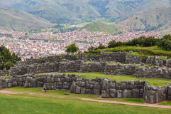 Saqsaywaman Incas ruins near Cusco, Peru Stock Photo