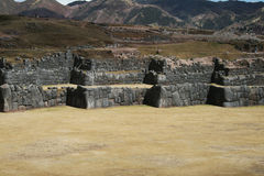 Saqsaywaman walls Royalty Free Stock Image