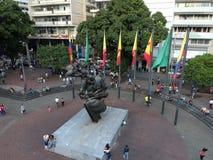 Saquare de Simon Bolivar foto de stock