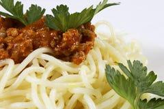 Espaguetes Fotografia de Stock Royalty Free