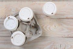 Saque el portador del café Foto de archivo libre de regalías