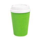 Saque la taza de té aislada en el fondo blanco Fotos de archivo libres de regalías