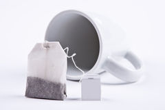 Saquinho de chá com copo Foto de Stock