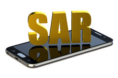 SAR concept with cell phone Royalty Free Stock Images