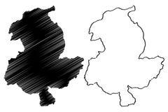 Sar-e Pol Province map vector. Sar-e Pol Province Islamic Republic of Afghanistan, Provinces of Afghanistan map vector illustration, scribble sketch Sari Pul map royalty free illustration