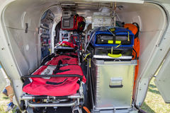 SAR helicopter interior equipment Royalty Free Stock Photos