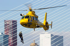 SAR helicopter Rotterdam Stock Photo