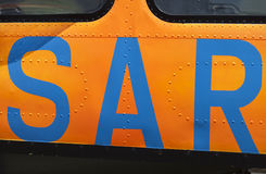 SAR Search and Rescue door from a german army helicopter Royalty Free Stock Photos