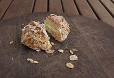 Sara cake Genoisebiscuitgebak met amandelen Royalty-vrije Stock Fotografie