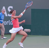 Sara Errani at the 2010 BNP Paribas Open Royalty Free Stock Image