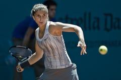 Sara Errani en la acción durante el tenis de Madrid Mutua abierto Foto de archivo
