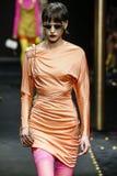 Sara Soric Walks The Runway At The Versace Show At Milan Fashion Week Autumn/Winter 2019/20 Royalty Free Stock Images