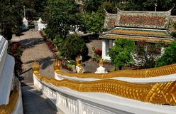 Saraburi, Ταϊλάνδη: Wat Phra Phutthabat στοκ εικόνα με δικαίωμα ελεύθερης χρήσης