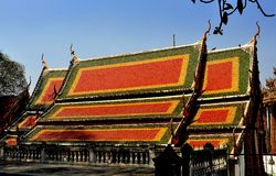 Saraburi, Таиланд: Vihan Hall на Wat Phra Phutthabat Стоковая Фотография RF