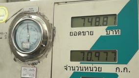 SARABURI, THAILAND - APRIL 10 2015 : Various shots of Fuel dispenser fueling cars. The fuel type call stock video