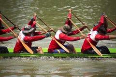 SARABURI, THAILAND - SEPTEMBER 29 : Unidentified crew in traditi Royalty Free Stock Image