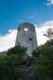 Saracen πύργος στην Ιταλία στην ακτή Sardina Στοκ Φωτογραφία