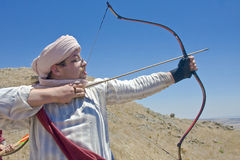 Saracen aiming Stock Image